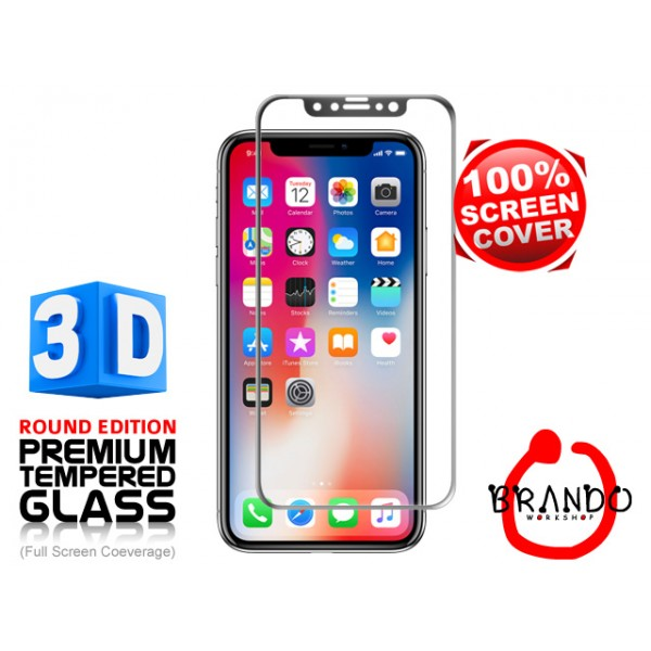 iPhone X - 3D 玻璃 Screen Protector  (正面 + 背面) (黑色)