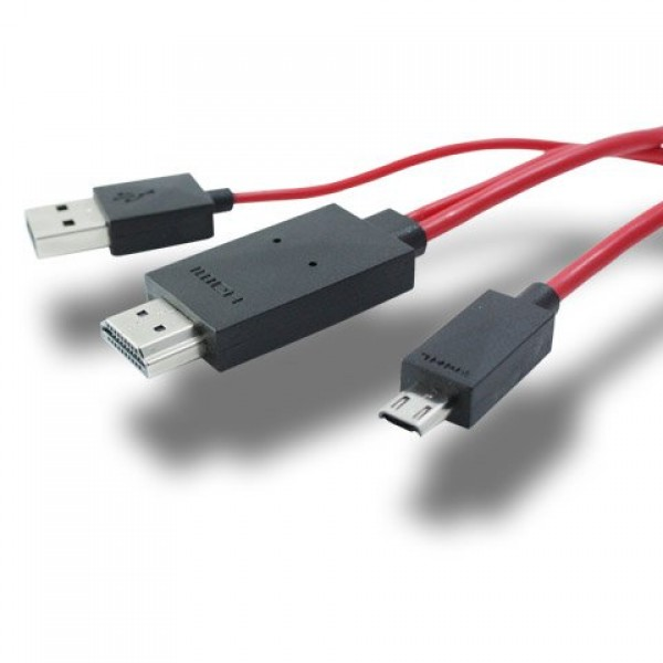 Android 2m MHL Micro USB 轉 HDMI HDTV Adapter Cable  (現貨)